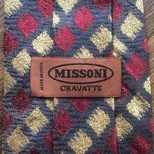 Missoni Red & Gold Silk Tie